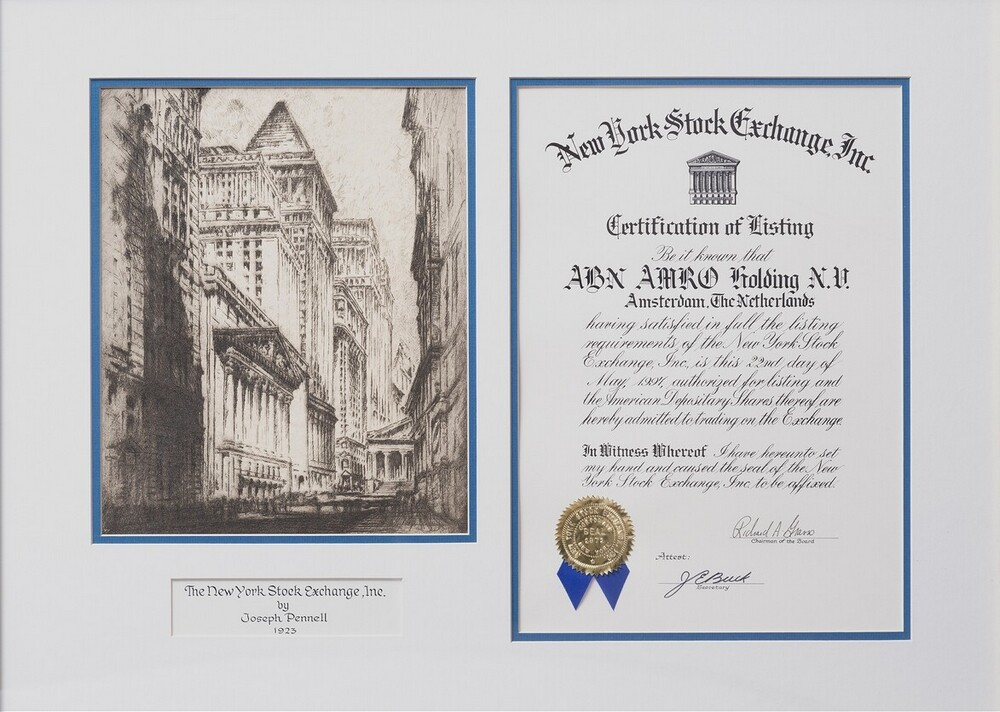 Certificate of Listing The New York Stock Exchange, Inc.