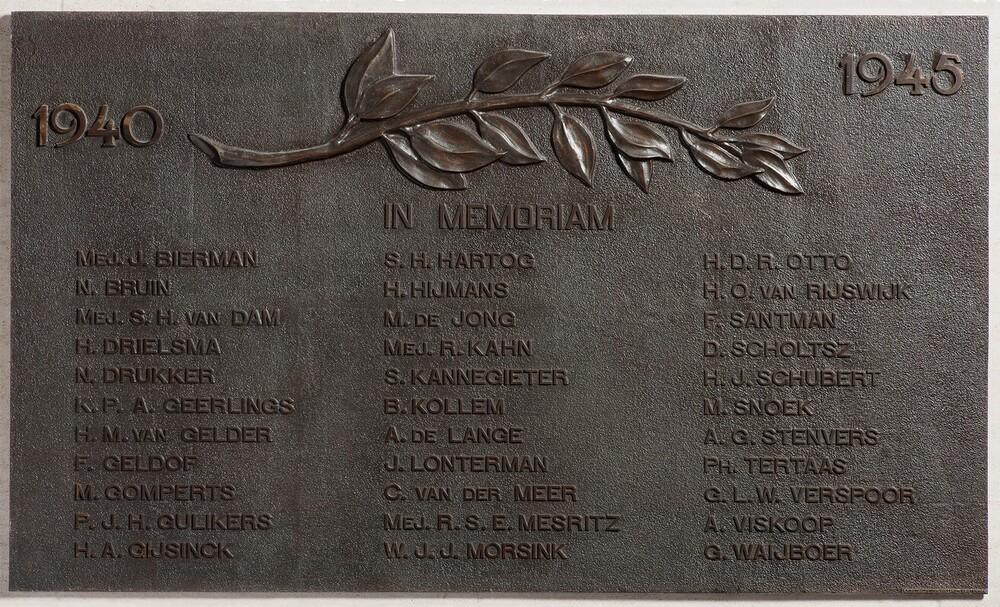 Gedenkteken WO II, plaquette, gedenkbord