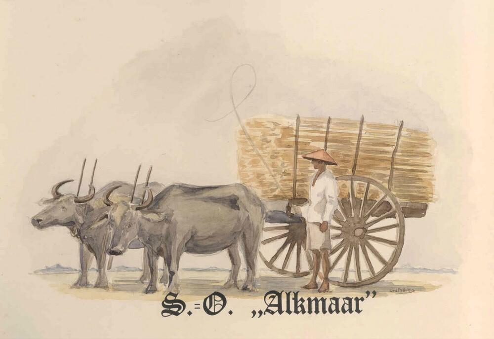 Oorkonde behorende bij huldeblijk van suikerfabrikanten op Java in Nederlands-Indië t.g.v. het 100-jarig bestaan