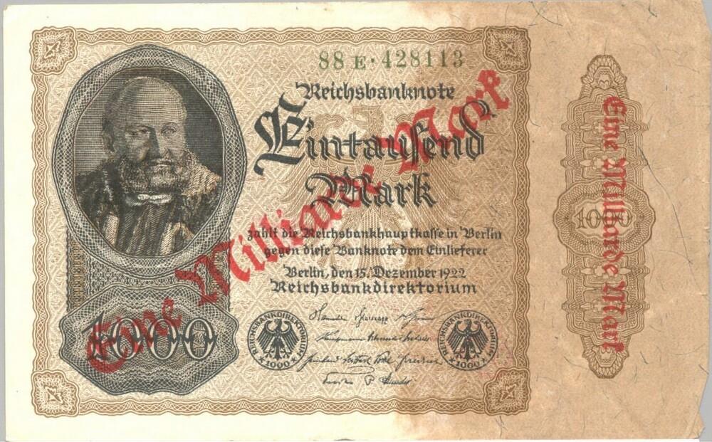 Biljet van 1000 Mark, Duitsland