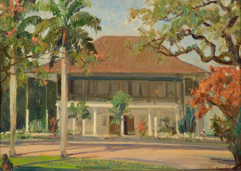 Huis van de president van de Factorij in Batavia, Indonesië