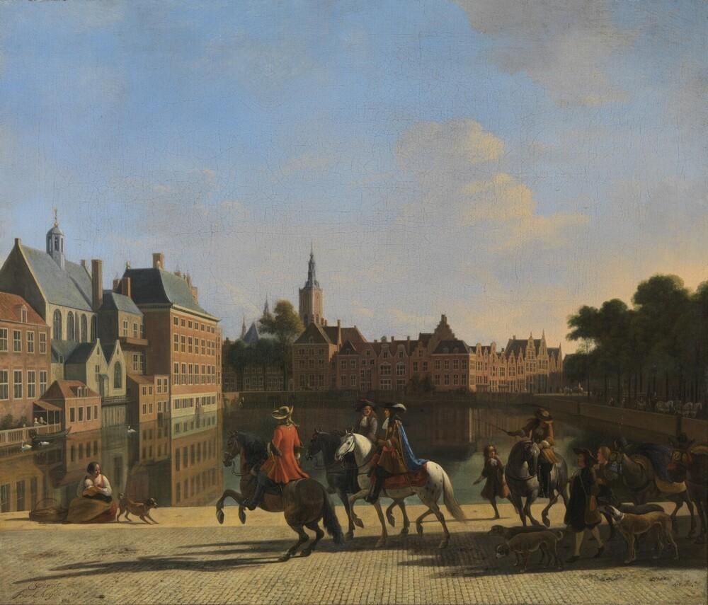 Gezicht op de Hofvijver, Den Haag