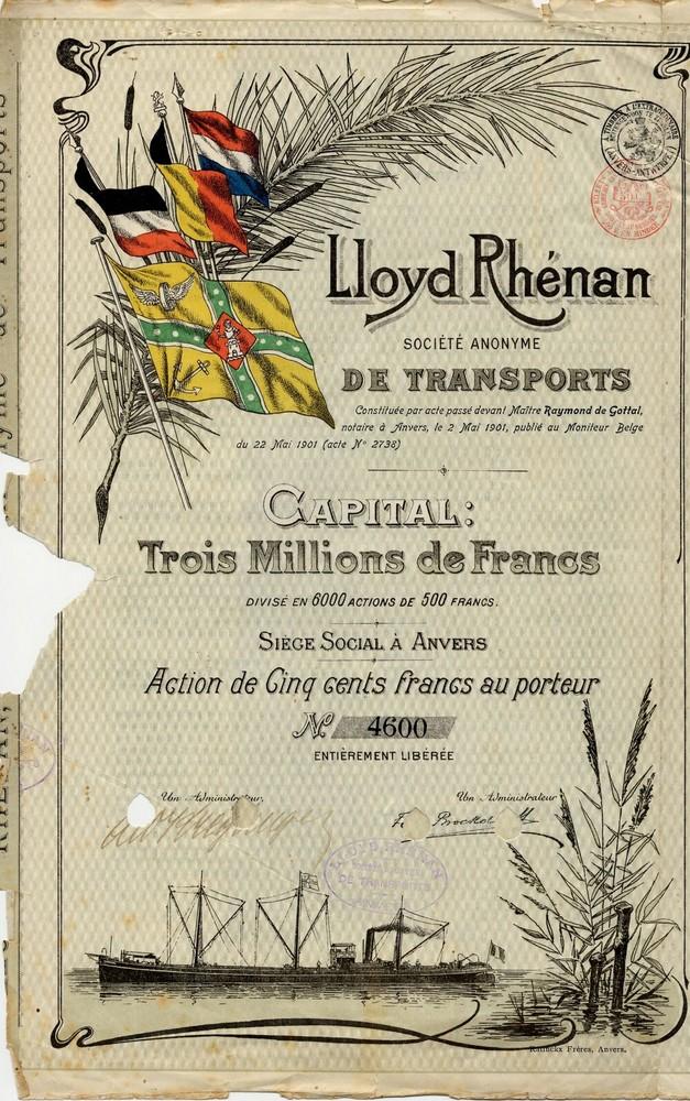 Lloyd Rhénan Société Anonyme de Transports te Antwerpen