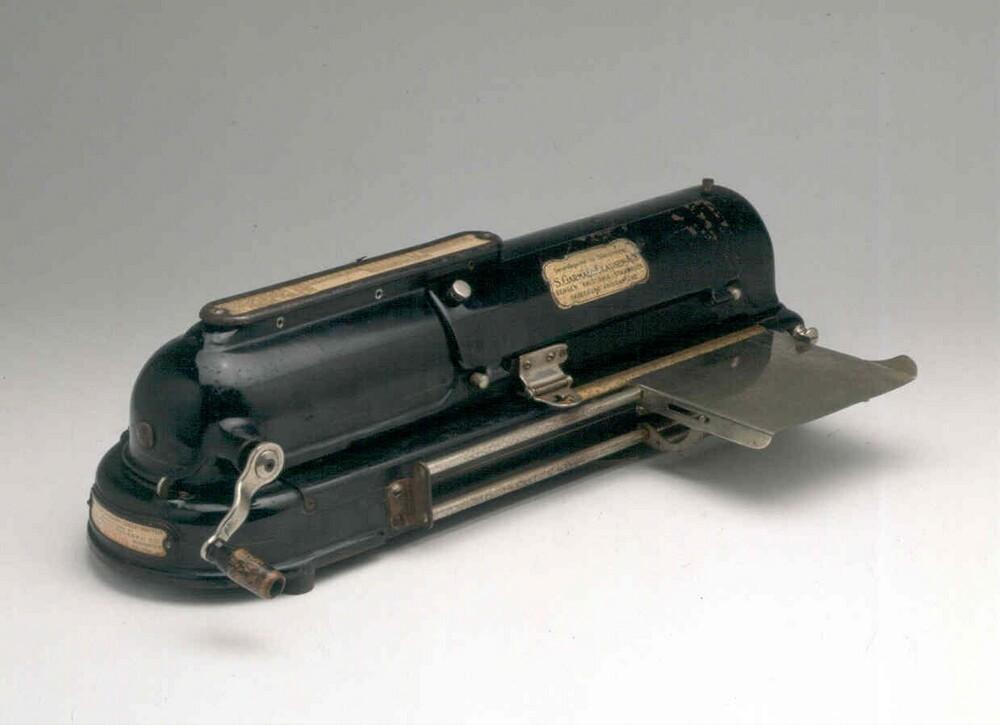 The Protectograph checkwriter