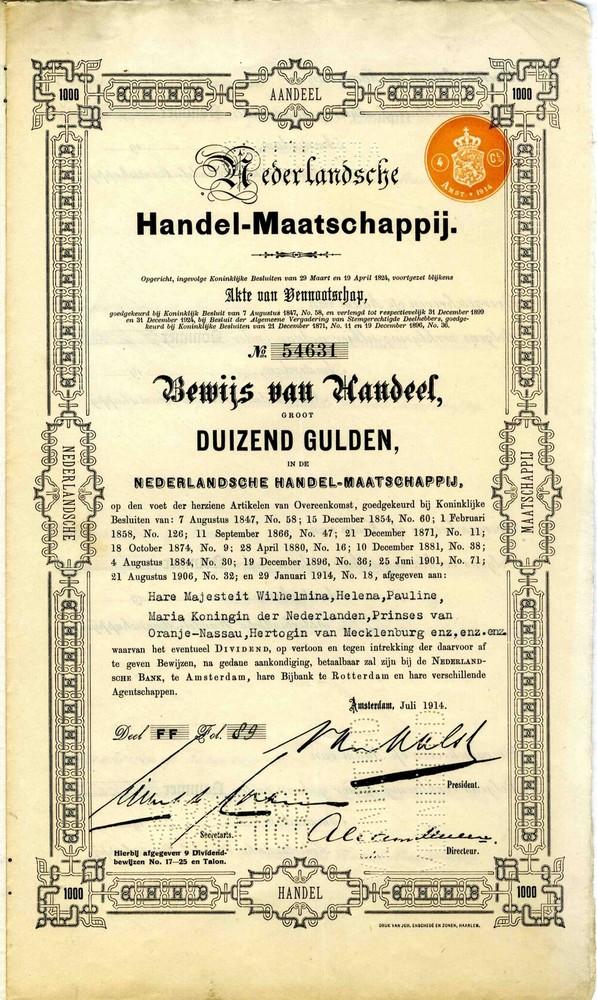 Aandeel Nederlandsche Handel-Maatschappij