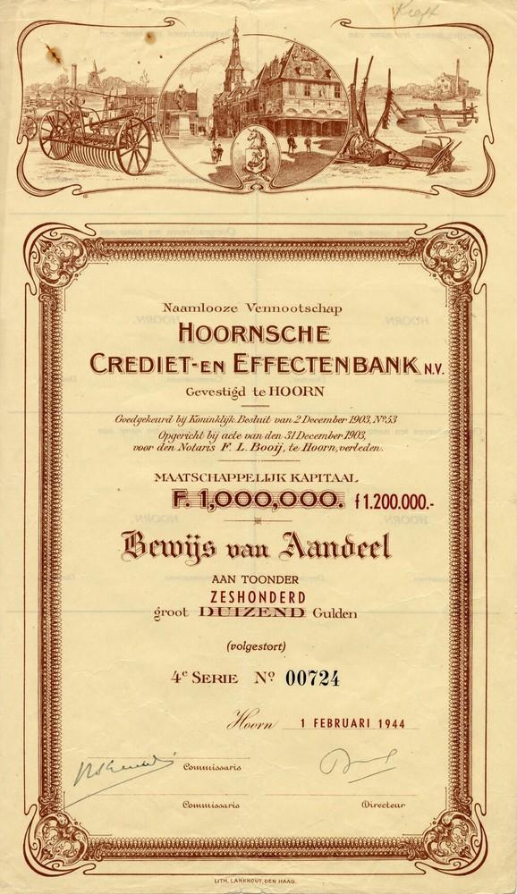 Hoornsche Crediet- en Effectenbank NV