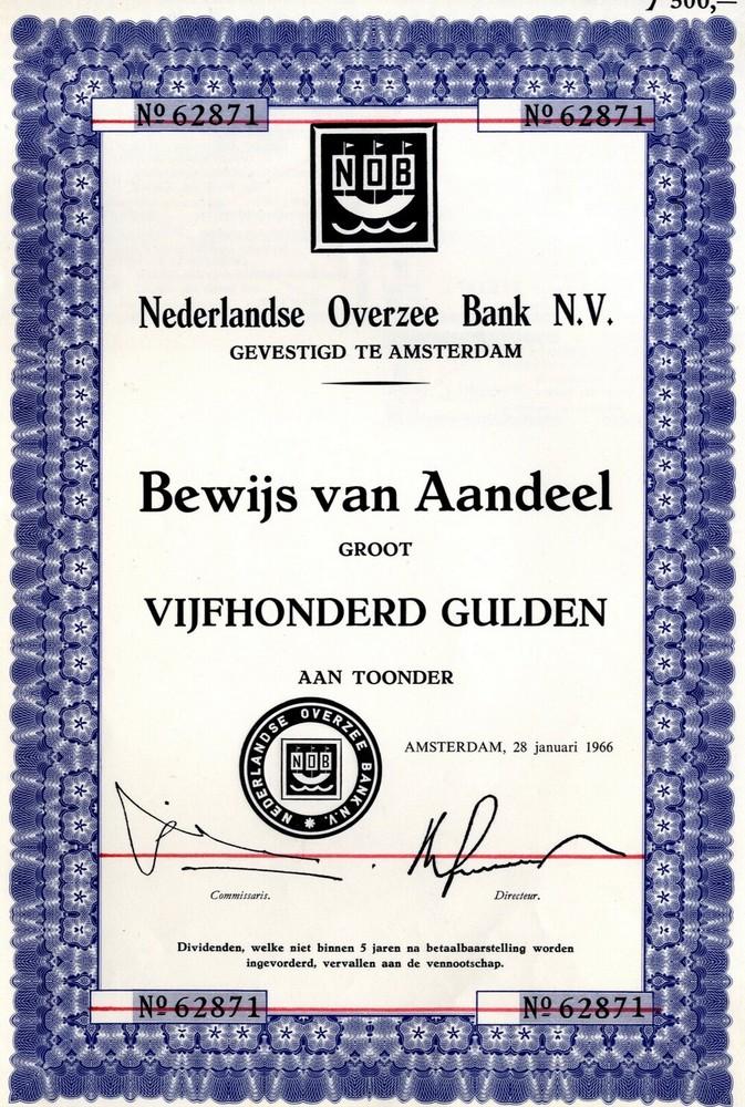 Nederlandse Overzee Bank NV te Amsterdam