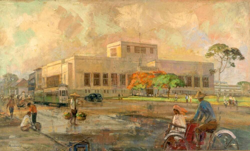 Hoofdagentschap Nederlandsch-Indische Handelsbank, Stationsplein, Batavia/Jakarta