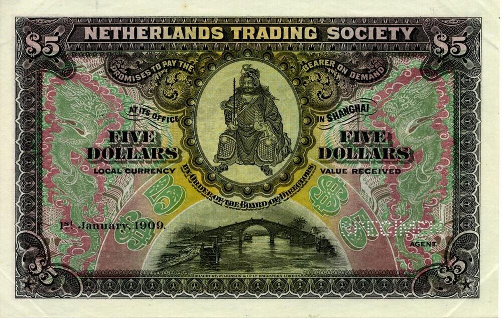 Shanghai 5 Dollars Netherlands Trading Society