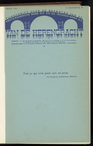 Amsterdamsche Bank - Van de Herengracht 1951