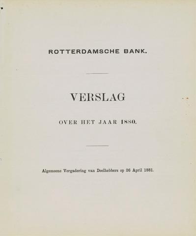 Rotterdamsche Bank 1880