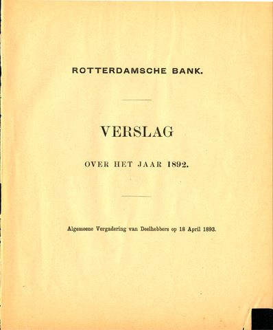 Rotterdamsche Bank 1892
