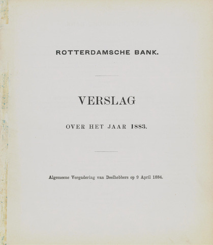 Rotterdamsche Bank 1883