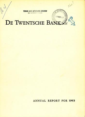 Twentsche Bank 1963