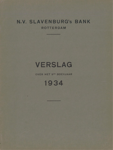 Slavenburg's Bank 1934