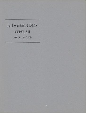 Twentsche Bank 1921