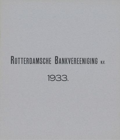 Rotterdamsche Bank 1933