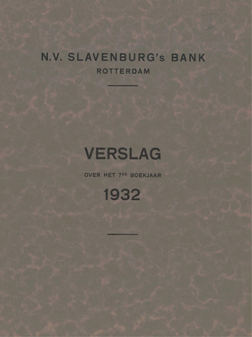 Slavenburg's Bank 1932