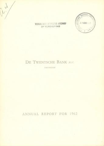 Twentsche Bank 1962