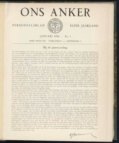 Nederlandsche Handel-Maatschappij - Ons Anker 1956