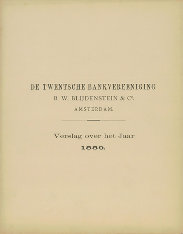 Twentsche Bank 1889