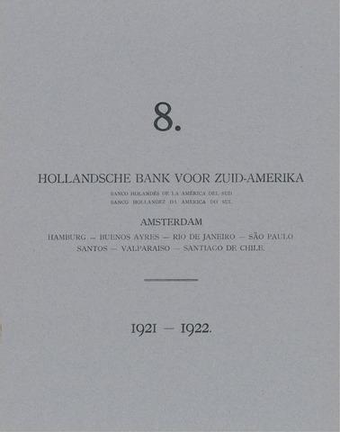 Hollandsche Bank voor Zuid-Amerika 1921