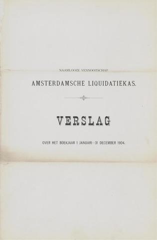 Amsterdamsche Liquidatiekas - Amsterdamsche Goederenbank 1904