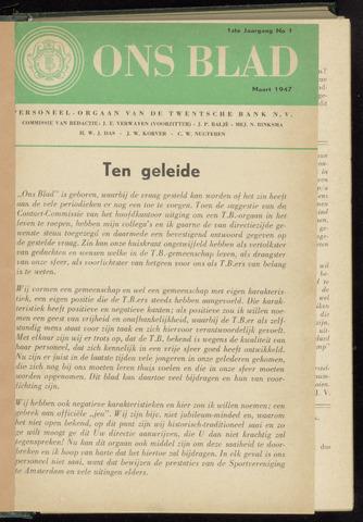 De Twentsche Bank - Banknoten 1947