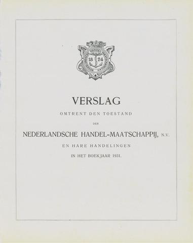 Nederlandsche Handel-Maatschappij 1931