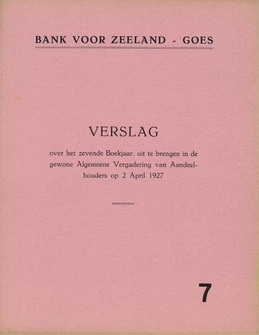 Bank voor Zeeland 1926