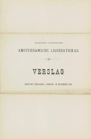 Amsterdamsche Liquidatiekas - Amsterdamsche Goederenbank 1912