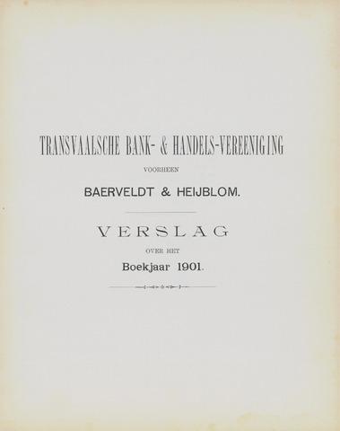 Transvaalsche Bank- en Handelsvereeniging 1901