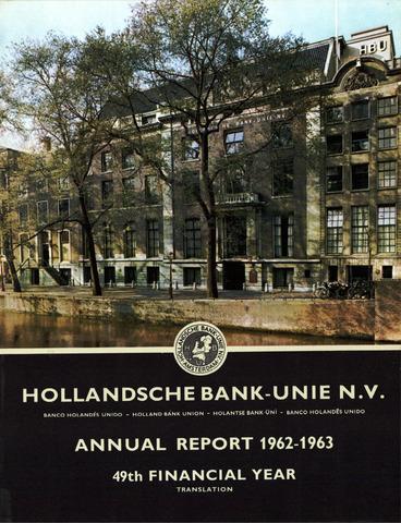 Hollandsche Bank-Unie 1962