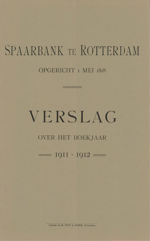 Spaarbank te Rotterdam 1911