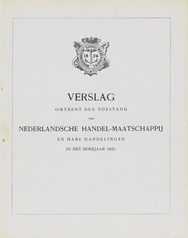Nederlandsche Handel-Maatschappij 1920