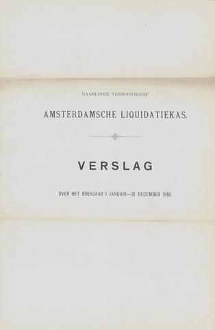 Amsterdamsche Liquidatiekas - Amsterdamsche Goederenbank 1918