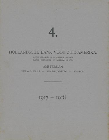 Hollandsche Bank voor Zuid-Amerika 1917