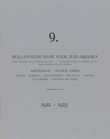 Hollandsche Bank voor Zuid-Amerika 1922