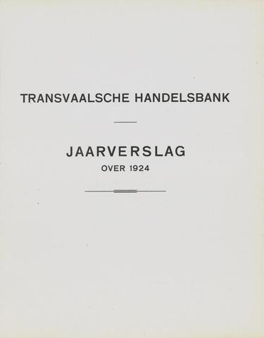Transvaalsche Bank- en Handelsvereeniging 1924