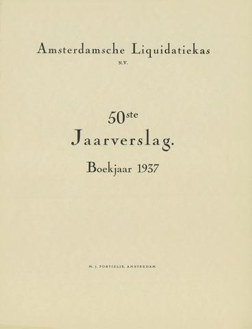 Amsterdamsche Liquidatiekas - Amsterdamsche Goederenbank 1937