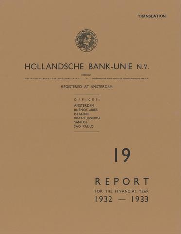Hollandsche Bank-Unie 1932