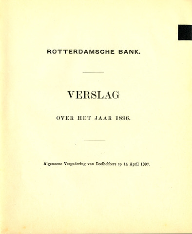 Rotterdamsche Bank 1896