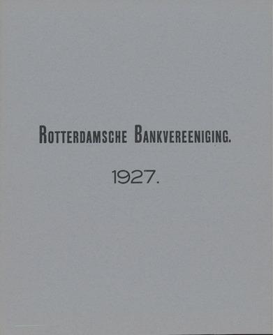 Rotterdamsche Bank 1927
