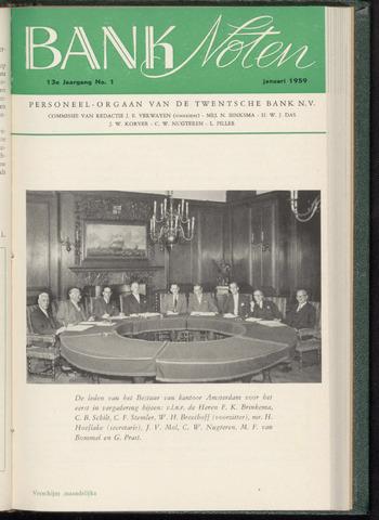 De Twentsche Bank - Banknoten 1959