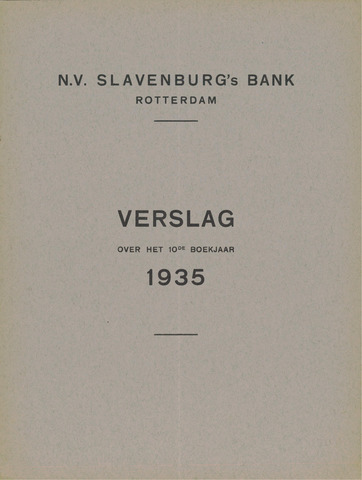 Slavenburg's Bank 1935