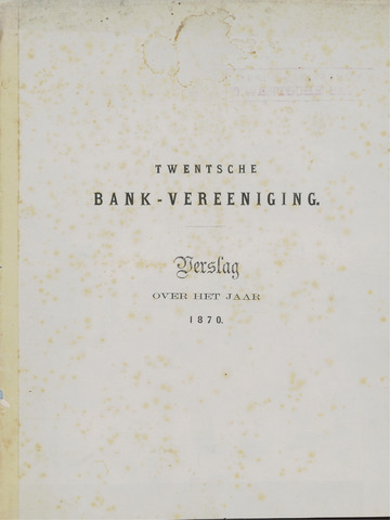 Twentsche Bank 1870
