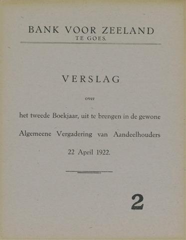 Bank voor Zeeland 1921