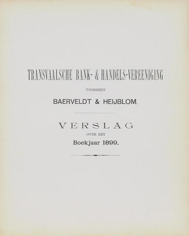 Transvaalsche Bank- en Handelsvereeniging 1899