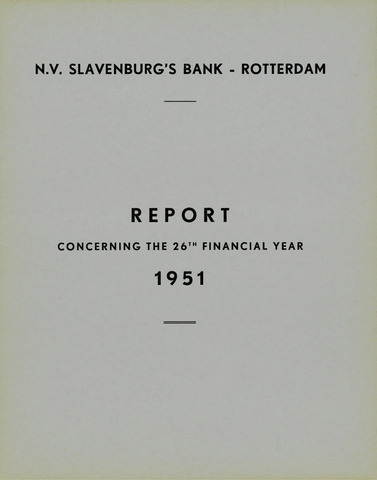 Slavenburg's Bank 1951