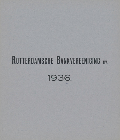 Rotterdamsche Bank 1936